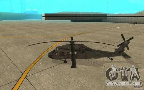 UH-60 Black Hawk for GTA San Andreas back left view