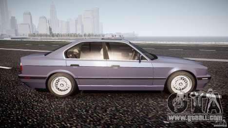 BMW 5 Series E34 540i 1994 v3.0 for GTA 4 side view