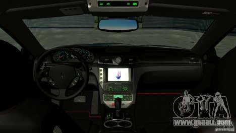 Maserati Gran Turismo 2008 for GTA San Andreas inner view