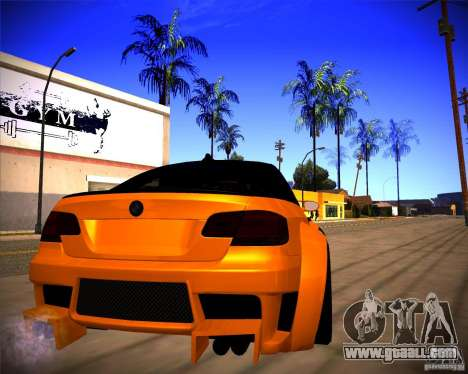 BMW M3 E92 Drift Version for GTA San Andreas right view