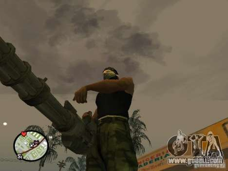 M134 Minigun from CoD: Mw2 for GTA San Andreas eighth screenshot