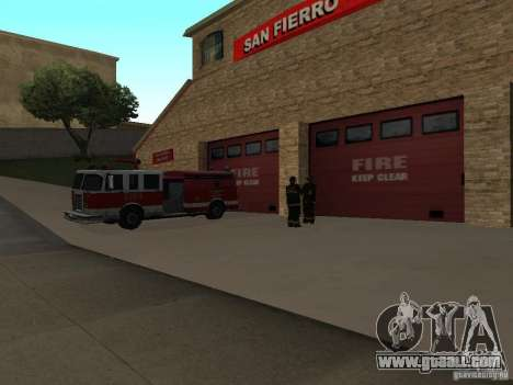 Vibrant Firehouse in SF for GTA San Andreas second screenshot