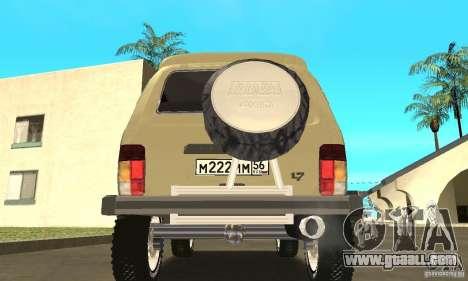 VAZ 21213 4 x 4 for GTA San Andreas inner view