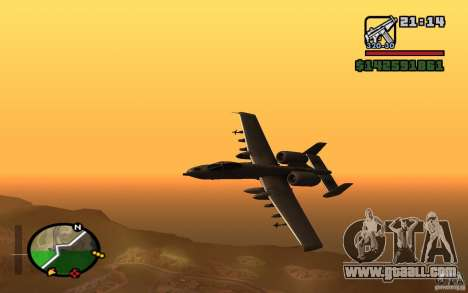 Thunderbold A-10 for GTA San Andreas