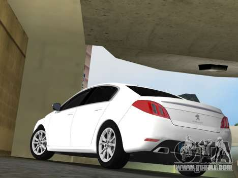 Peugeot 508 e-HDi 2011 for GTA Vice City back view