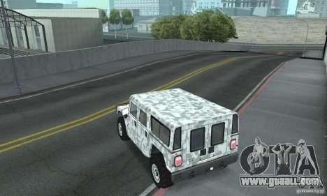Hummer H1 for GTA San Andreas interior