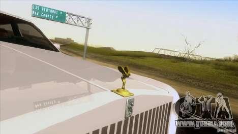 Rolls Royce Phantom Hamann for GTA San Andreas inner view