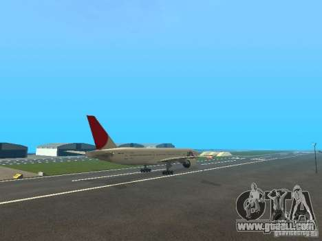 Boeing 777-200 Japan Airlines for GTA San Andreas inner view