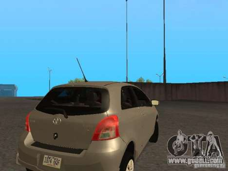 Toyota Yaris Sport 2008 for GTA San Andreas right view
