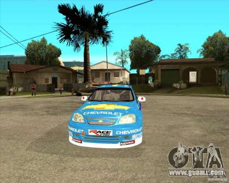Chevrolet Lacetti WTCC for GTA San Andreas back view