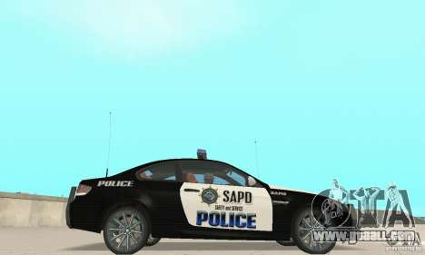 BMW M3 E92 Police for GTA San Andreas back left view