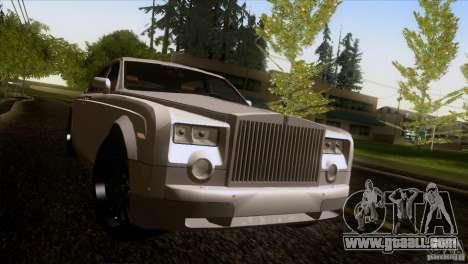 Rolls Royce Phantom Hamann for GTA San Andreas bottom view