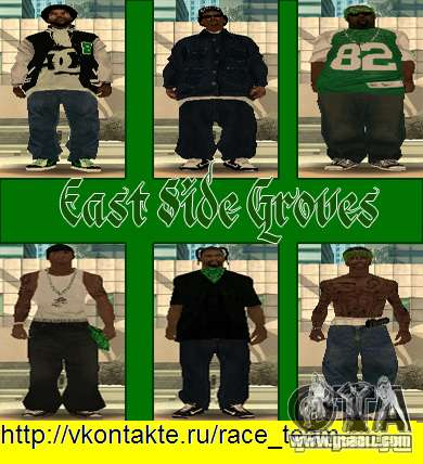 Replace all skins Grove Street Families for GTA San Andreas eighth screenshot