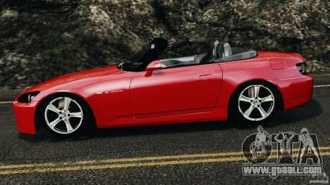 Honda S2000 v1.1 for GTA 4 left view