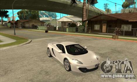McLaren MP4-12c 2010 for GTA San Andreas back view