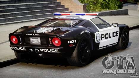 Ford GT1000 Hennessey Police 2006 [EPM][ELS] for GTA 4 side view