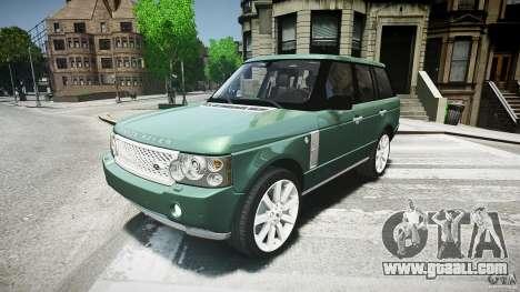 Range Rover Supercharged v1.0 for GTA 4