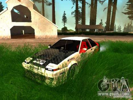 Toyota AE86 Coupe for GTA San Andreas upper view