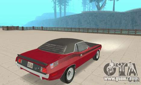 Plymouth Cuda AAR 340 1970 for GTA San Andreas left view