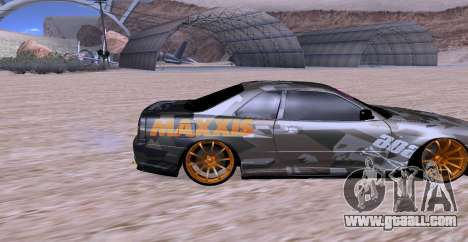 Nissan Skyline GTR34 MAXXIS for GTA San Andreas right view