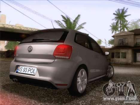 Volkswagen Polo GTI 2011 for GTA San Andreas back left view