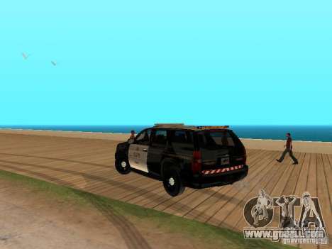 Chevrolet Tahoe Ontario Highway Police for GTA San Andreas back left view