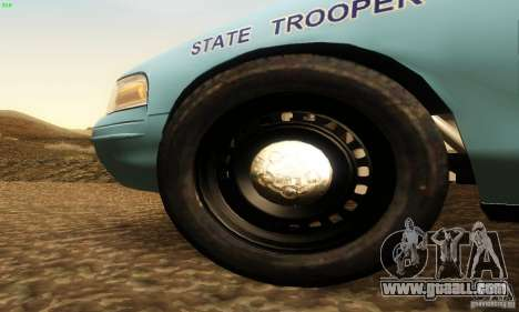 Ford Crown Victoria Maine Police for GTA San Andreas right view