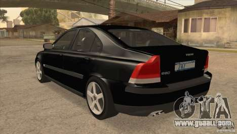 Volvo S60R for GTA San Andreas back left view