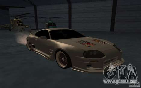 Toyota Supra for GTA San Andreas left view