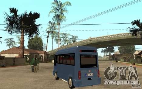 Karsan J10 for GTA San Andreas back left view