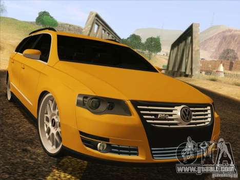 Volkswagen Passat B6 Variant for GTA San Andreas back left view