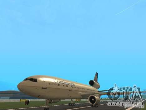 McDonell Douglas DC10 Continental Airlines for GTA San Andreas