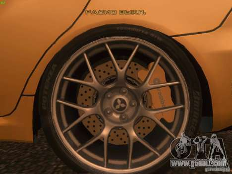 Mitsubishi  Lancer Evo X BMS Edition for GTA San Andreas interior