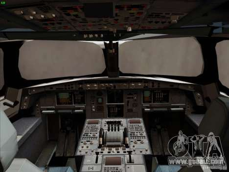 Airbus A350-900 Emirates for GTA San Andreas interior