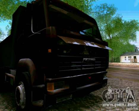 KAMAZ 6520 dump truck for GTA San Andreas back view