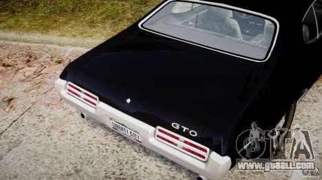 Pontiac GTO Judge for GTA 4 upper view