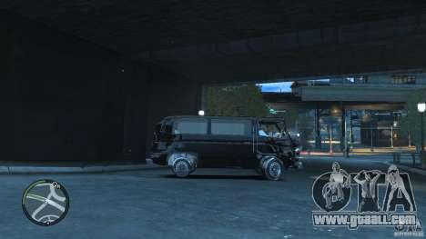 Volkswagen Transporter T3 for GTA 4 inner view