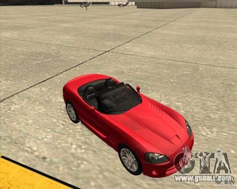 Dodge Viper SRT-10 Roadster for GTA San Andreas inner view