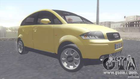 Audi A2 for GTA San Andreas left view