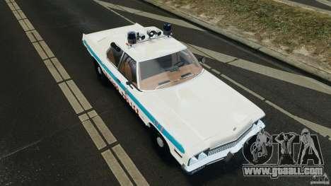 Dodge Monaco 1974 Police v1.0 [ELS] for GTA 4 bottom view