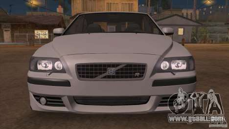 Volvo S60R for GTA San Andreas bottom view