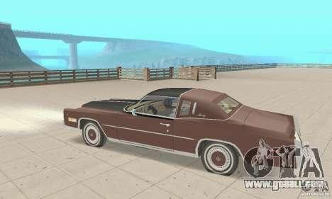 Cadillac Eldorado Biarritz 1978 for GTA San Andreas back view
