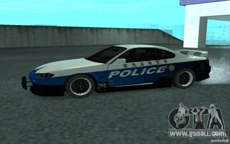 Nissan Silvia S15 Police for GTA San Andreas left view