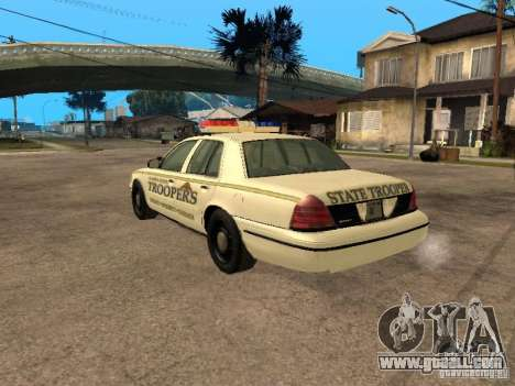 Ford Crown Victoria 2003 Police for GTA San Andreas left view