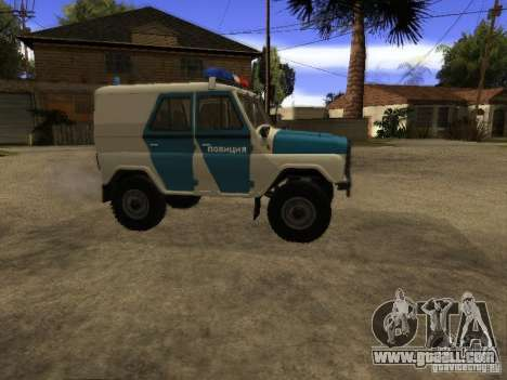 UAZ 31519 Police for GTA San Andreas left view