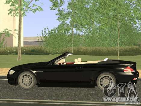 BMW 650I for GTA San Andreas left view