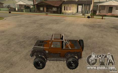 Land Rover Defender Extreme Off-Road for GTA San Andreas left view
