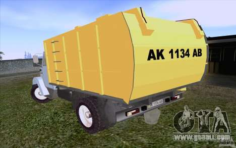 ZIL 4331 garbage truck for GTA San Andreas right view