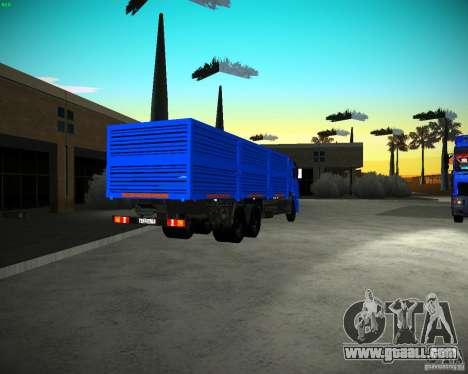KAMAZ 65117 Grain for GTA San Andreas back left view