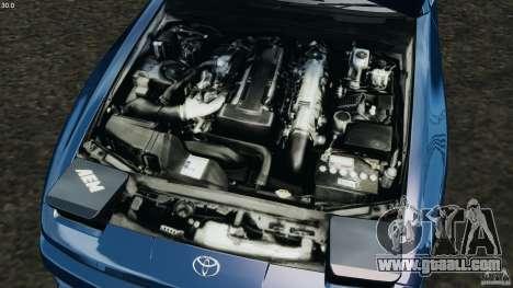 Toyota Supra 3.0 Turbo MK3 1992 v1.0 for GTA 4 upper view